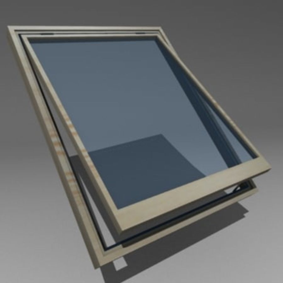 roof windows 3ds royalty-free 3d model - Preview no. 9
