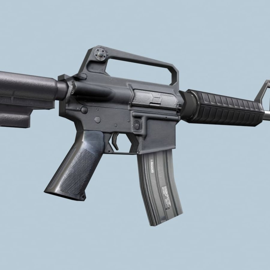 M4_Carbine royalty-free 3d model - Preview no. 3
