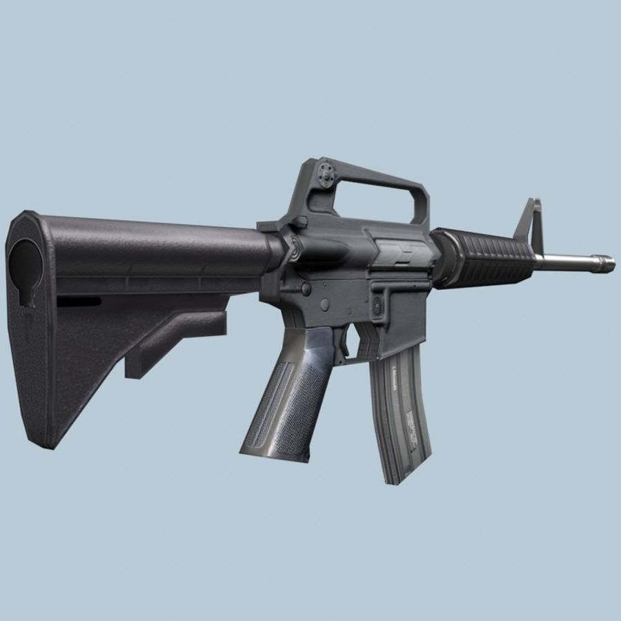 M4_Carbine royalty-free 3d model - Preview no. 4