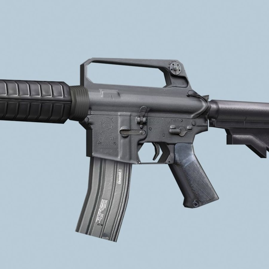 M4_Carbine royalty-free 3d model - Preview no. 2