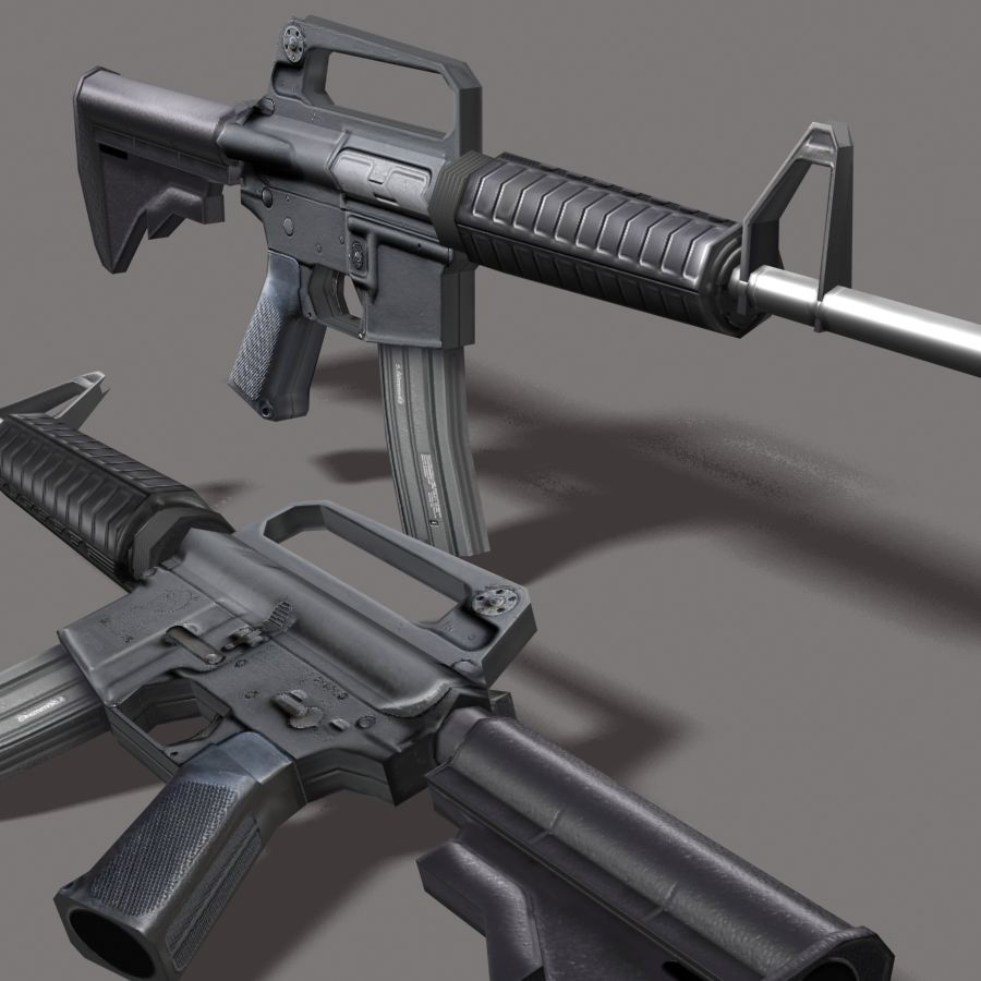 M4_Carbine royalty-free 3d model - Preview no. 7
