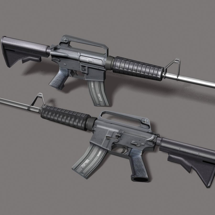 M4_Carbine royalty-free 3d model - Preview no. 6