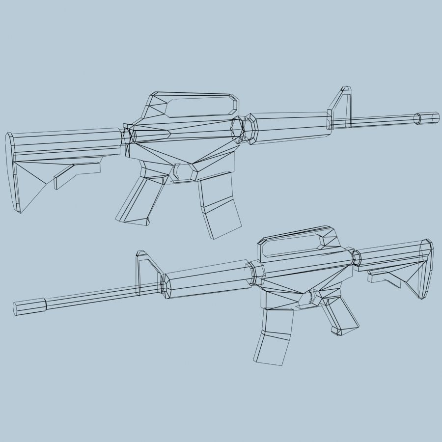 M4_Carbine royalty-free 3d model - Preview no. 5