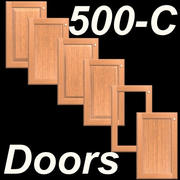 Puertas de gabinete de cocina 500C-SET-Frame-C-Wood modelo 3d