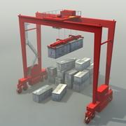 RTG Crane 3D 3d model