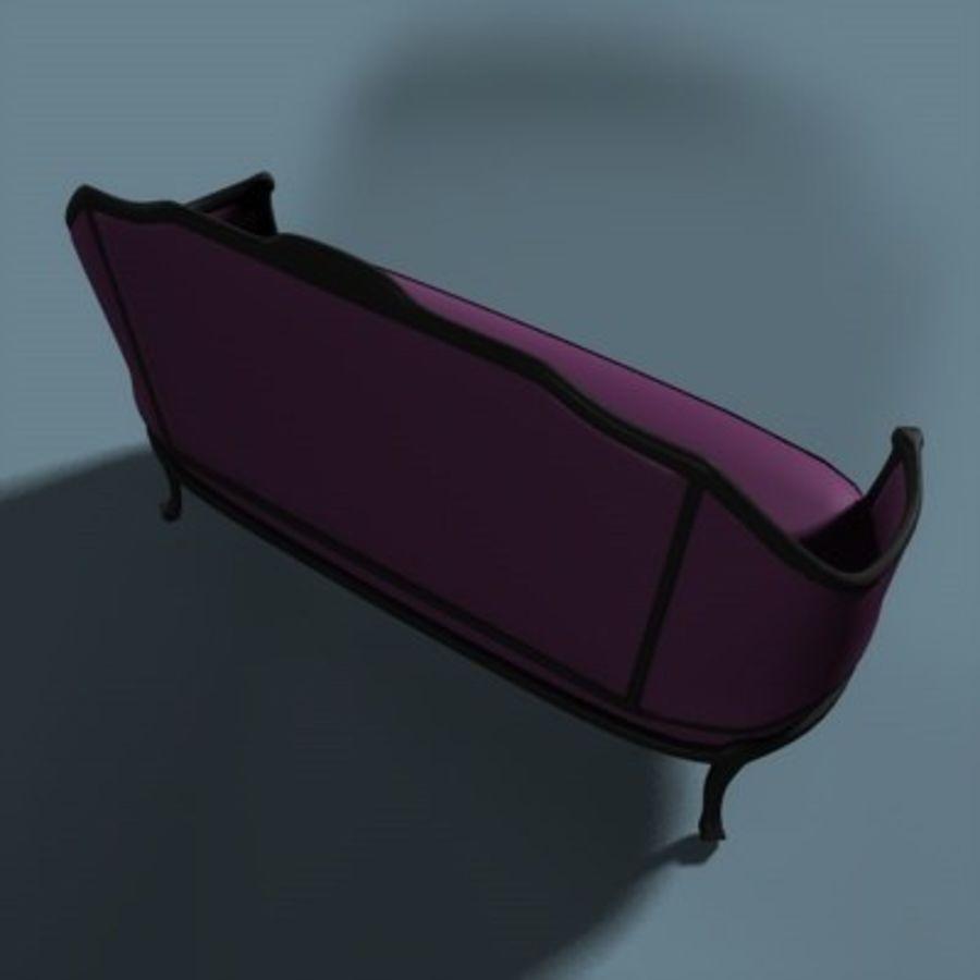 Asiento de amor victoriano royalty-free modelo 3d - Preview no. 3