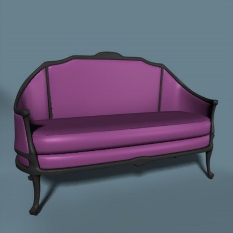Asiento de amor victoriano royalty-free modelo 3d - Preview no. 1