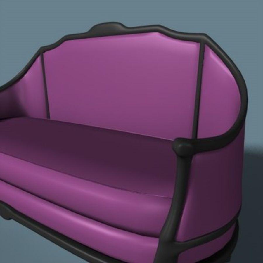 Asiento de amor victoriano royalty-free modelo 3d - Preview no. 2