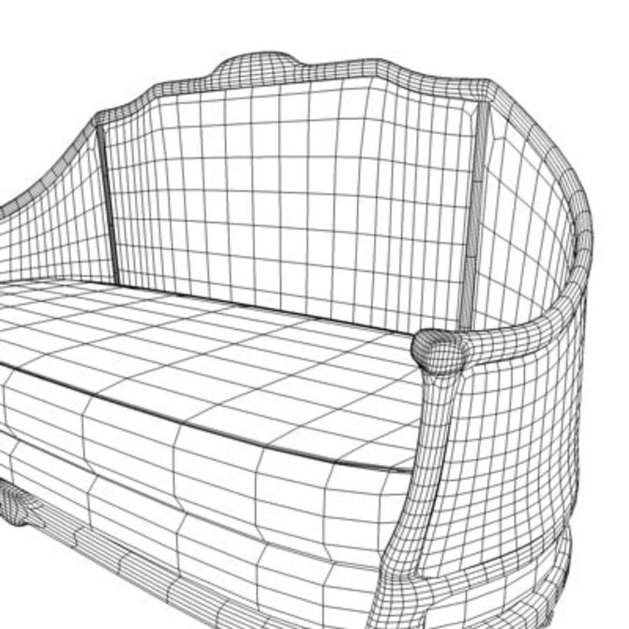 Asiento de amor victoriano royalty-free modelo 3d - Preview no. 5