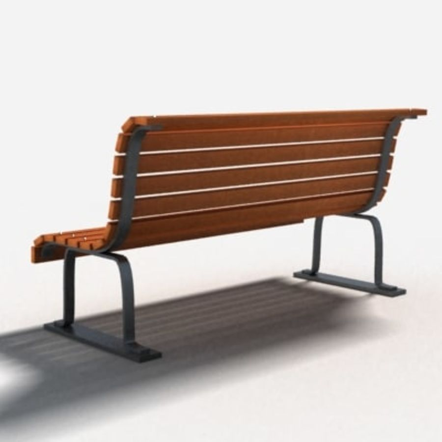bench royalty-free 3d model - Preview no. 4