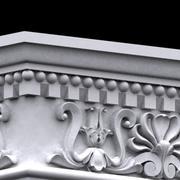 Kwadratowy colum capitel 3d model