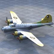 B17轰炸机 3d model