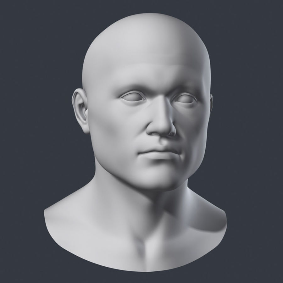 Cabeça masculina royalty-free 3d model - Preview no. 1