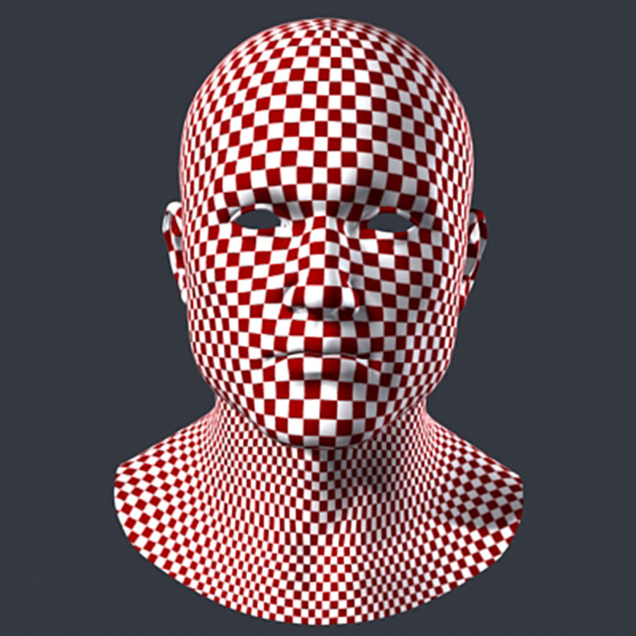Cabeça masculina royalty-free 3d model - Preview no. 7