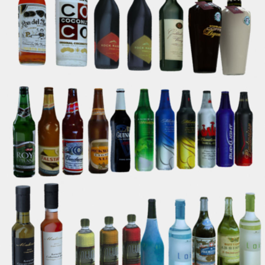 Liquor and Beer - Large Vol1.zip royalty-free 3d model - Preview no. 1