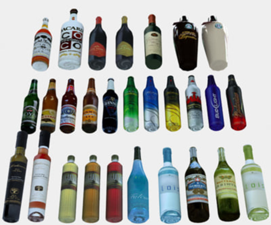 Liquor and Beer - Large Vol1.zip royalty-free 3d model - Preview no. 2