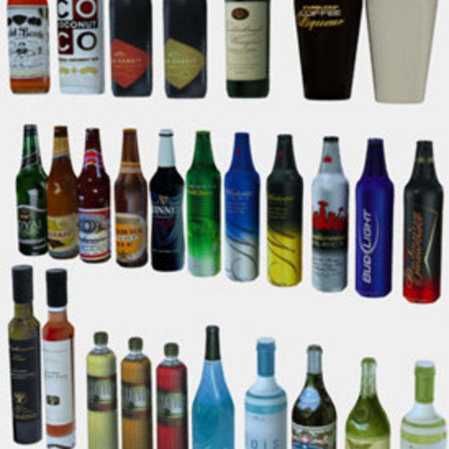 Liquor and Beer - Large Vol1.zip royalty-free 3d model - Preview no. 3