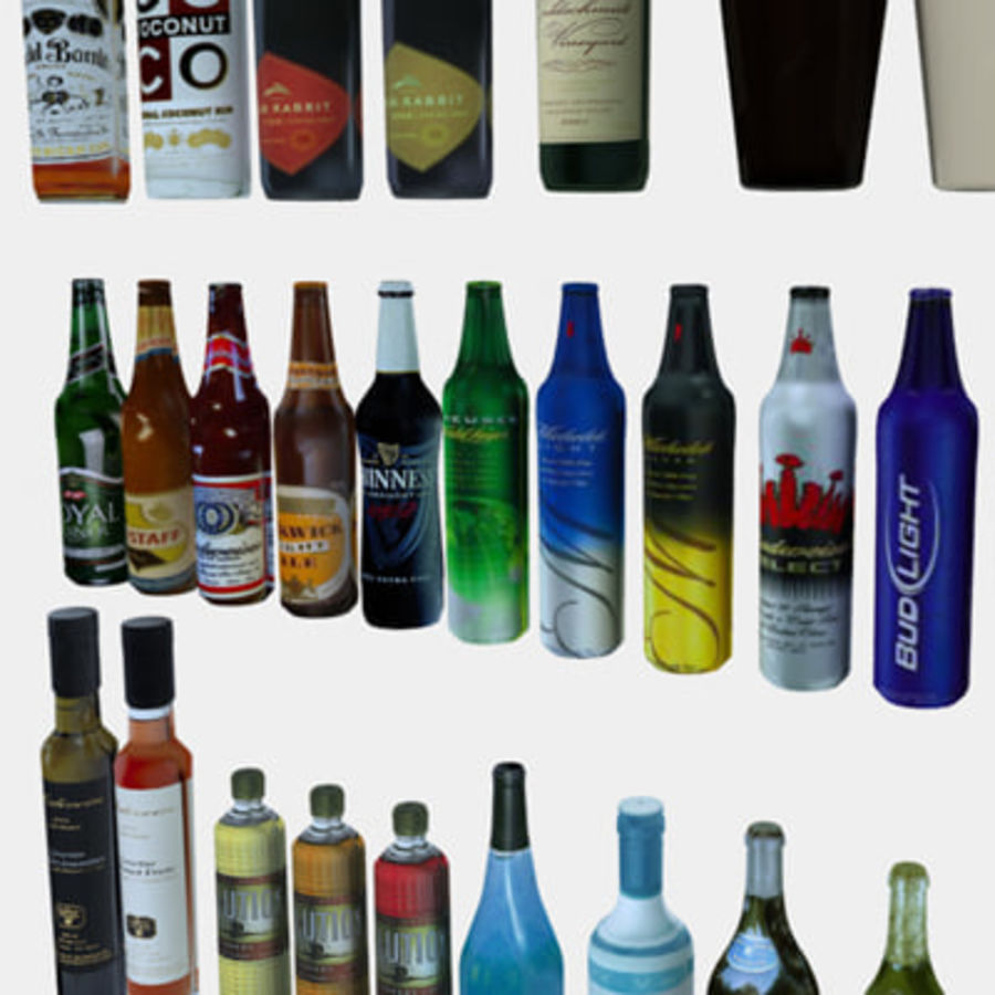 Liquor and Beer - Large Vol1.zip royalty-free 3d model - Preview no. 4