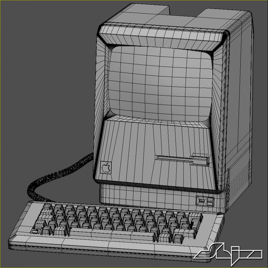 Computer Apple Macintosh royalty-free 3d model - Preview no. 6