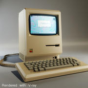 Компьютер Apple Macintosh 3d model