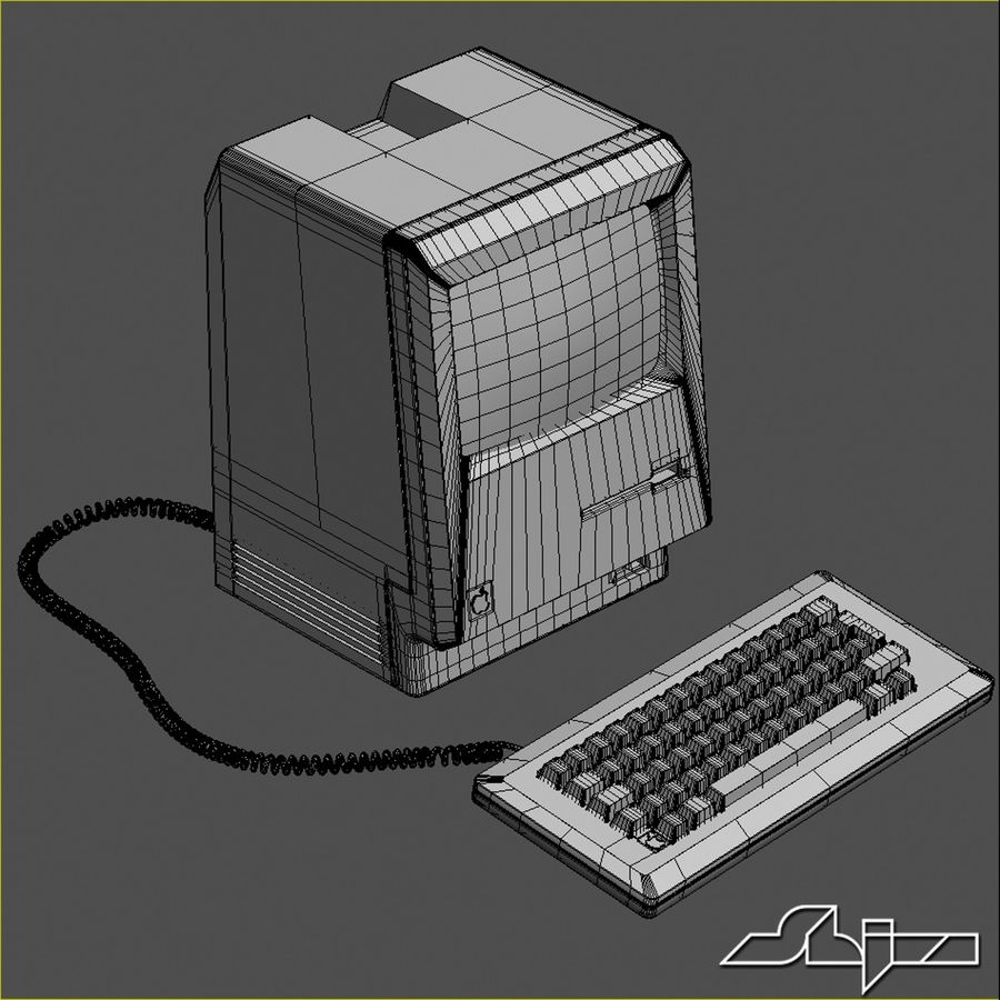 Computer Apple Macintosh royalty-free 3d model - Preview no. 3