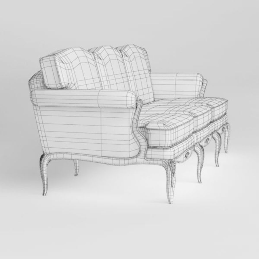 Sofa royalty-free 3d model - Preview no. 9