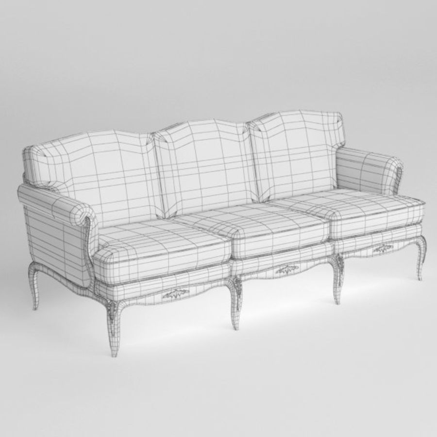 Sofa royalty-free 3d model - Preview no. 7