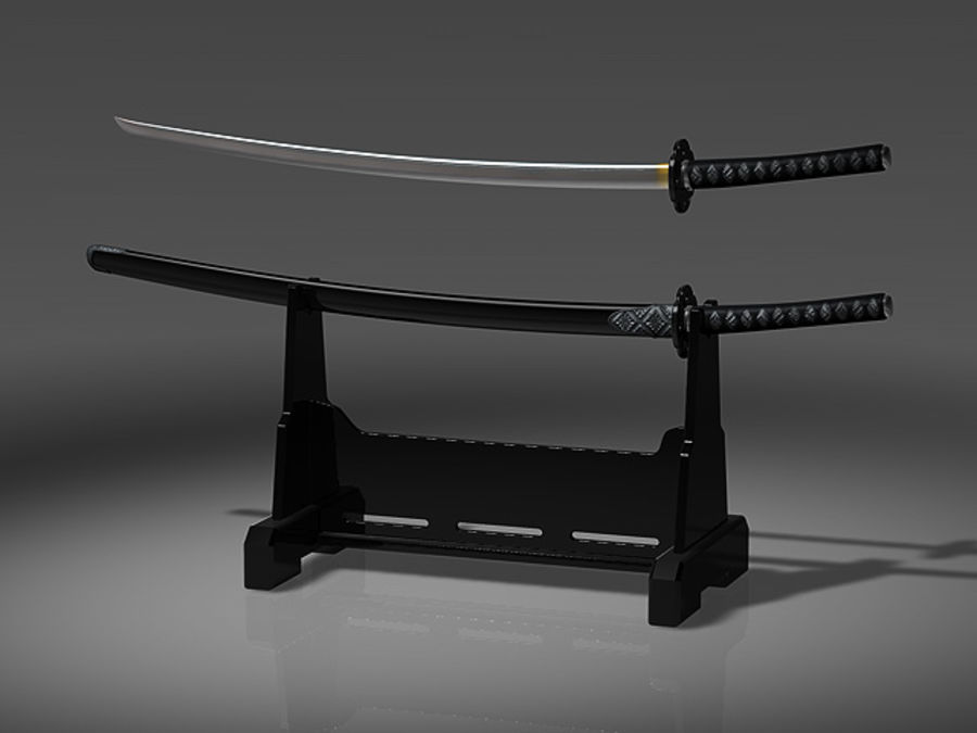 japanese_sword royalty-free 3d model - Preview no. 1