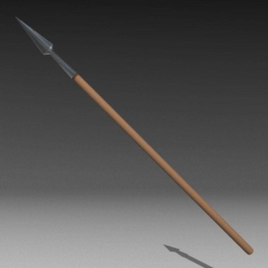 spear.3ds royalty-free 3d model - Preview no. 2
