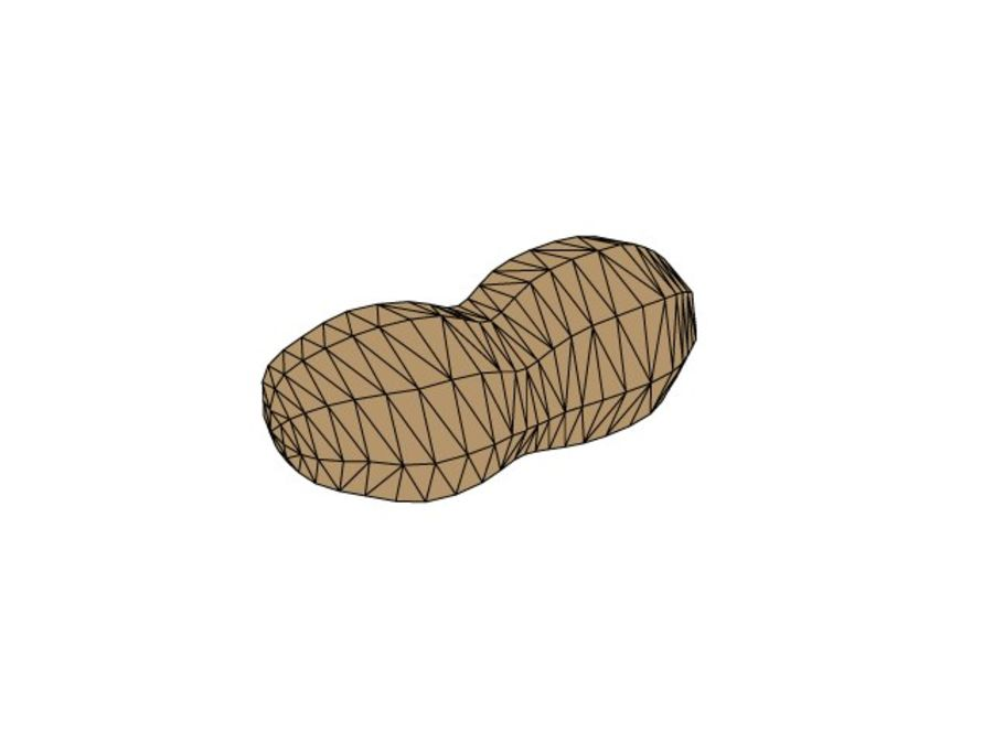 Peanut - High and Low Poly royalty-free 3d model - Preview no. 2