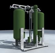 Industrial Plant Air Dryer 3d model