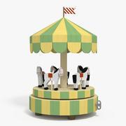 Wooden Horse Carousel 3d model