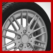 Roda (aro - pneu e disco de freio) 2 3d model