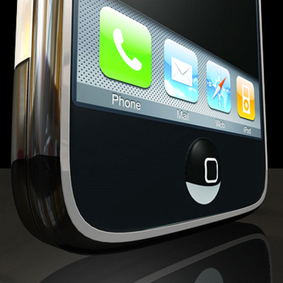 Apple iPhone royalty-free 3d model - Preview no. 5