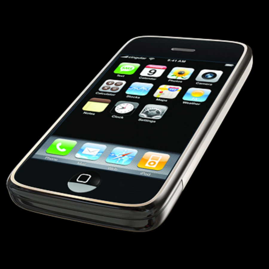 Apple iPhone royalty-free 3d model - Preview no. 9