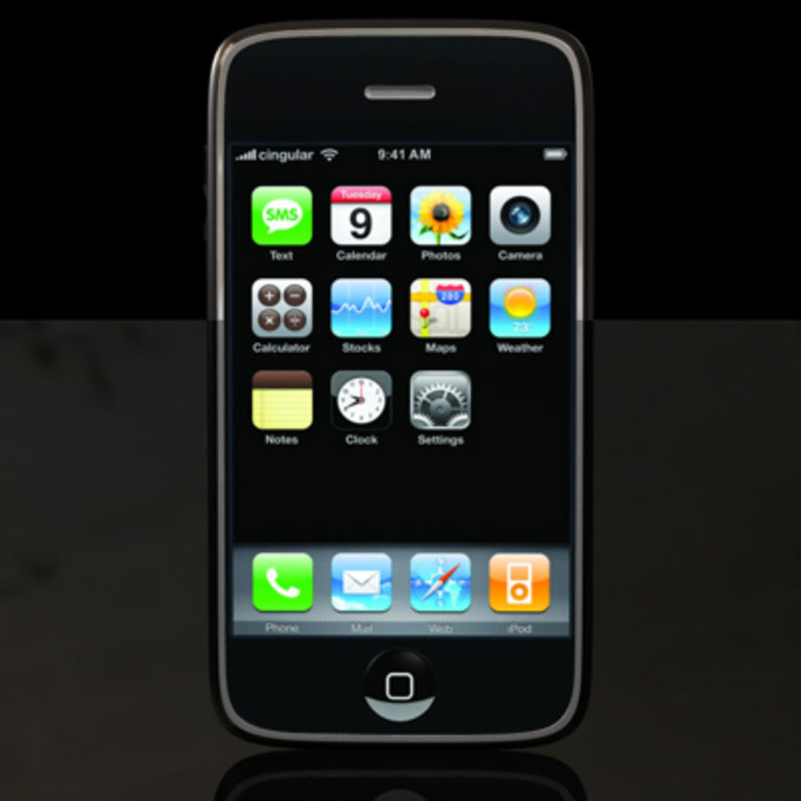 Apple iPhone royalty-free 3d model - Preview no. 8