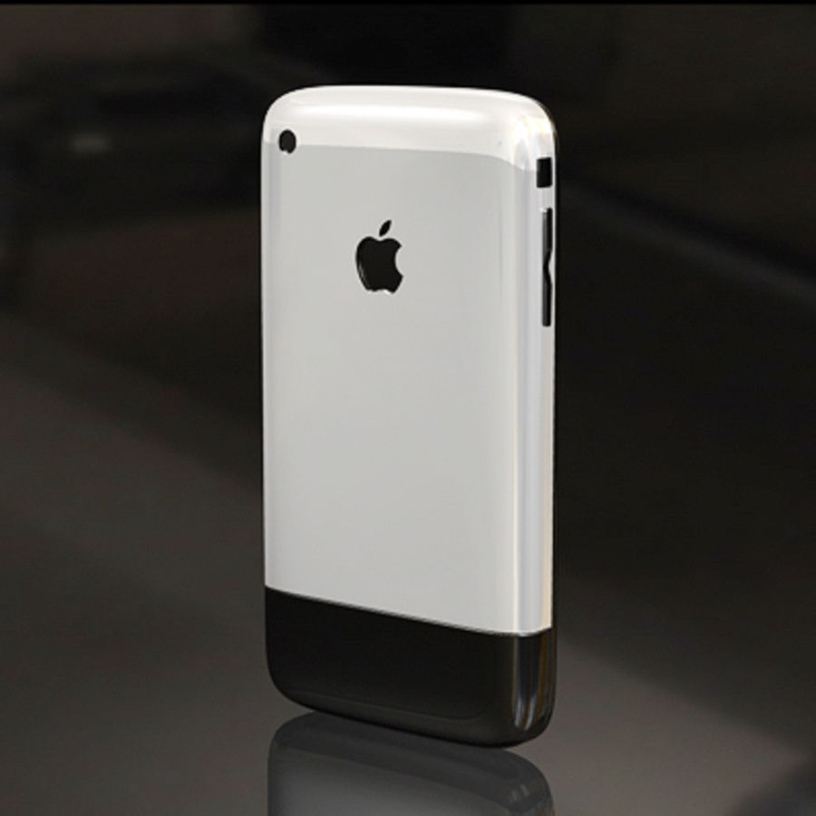 Apple iPhone royalty-free 3d model - Preview no. 3