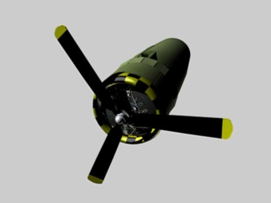 Prop Engine royalty-free 3d model - Preview no. 3