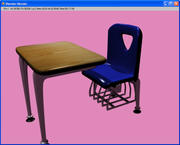 One Piece School Desk 3d model