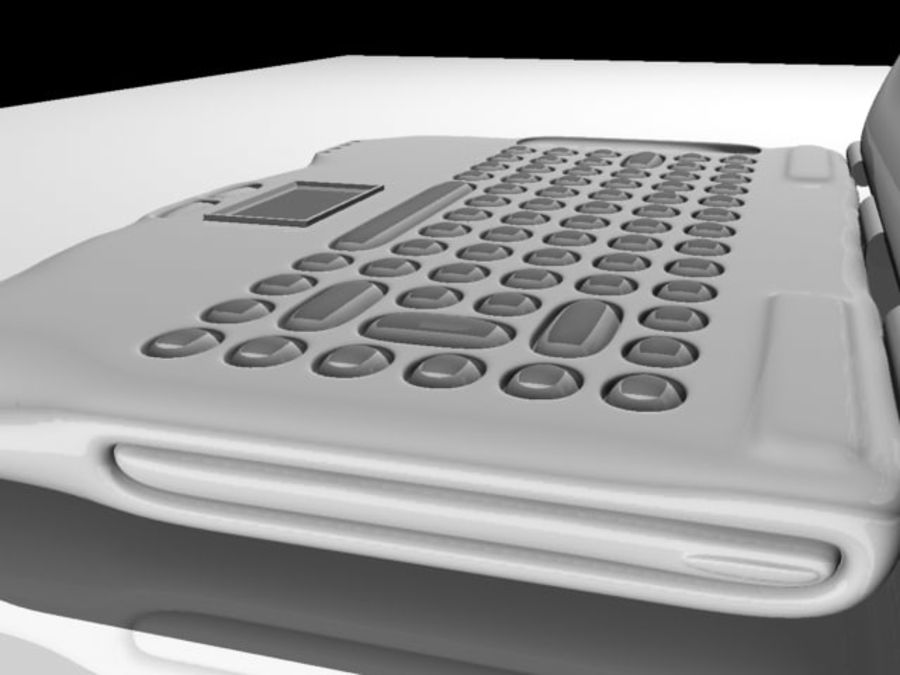 Notebook royalty-free 3d model - Preview no. 4