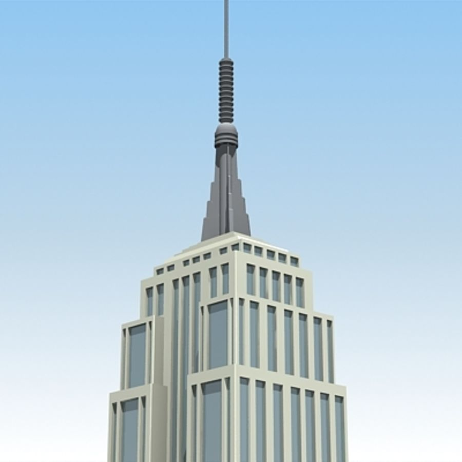 Empire state building.zip royalty-free 3d model - Preview no. 4