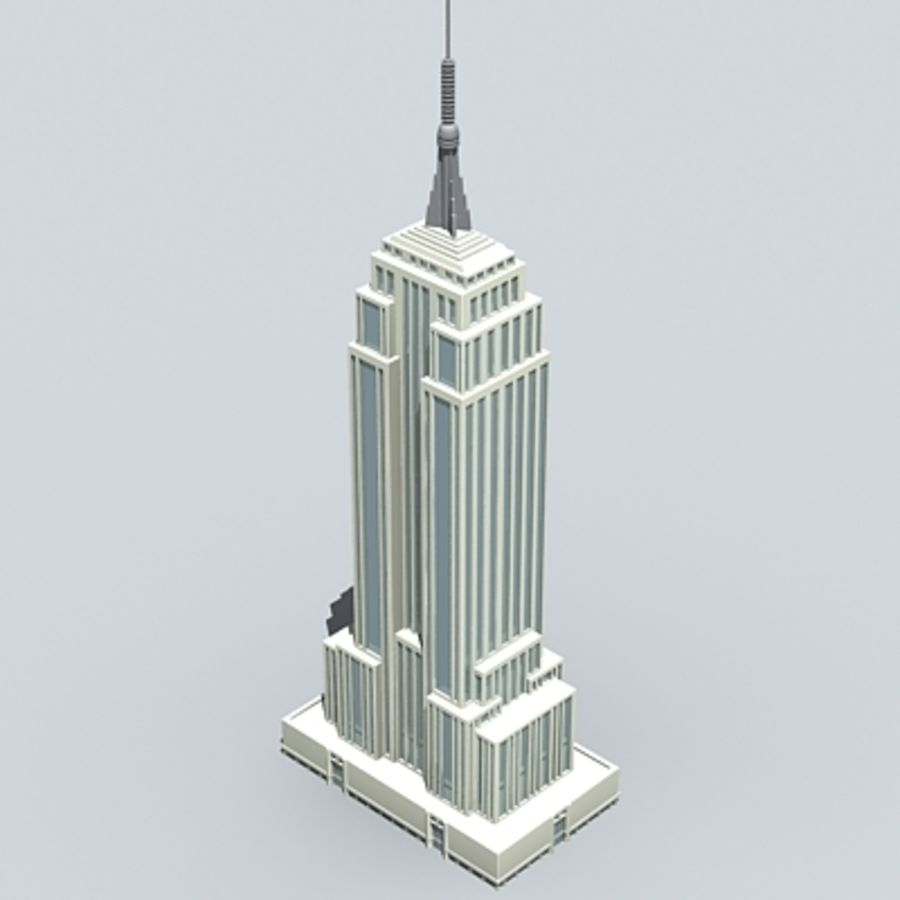 Empire state building.zip royalty-free 3d model - Preview no. 3
