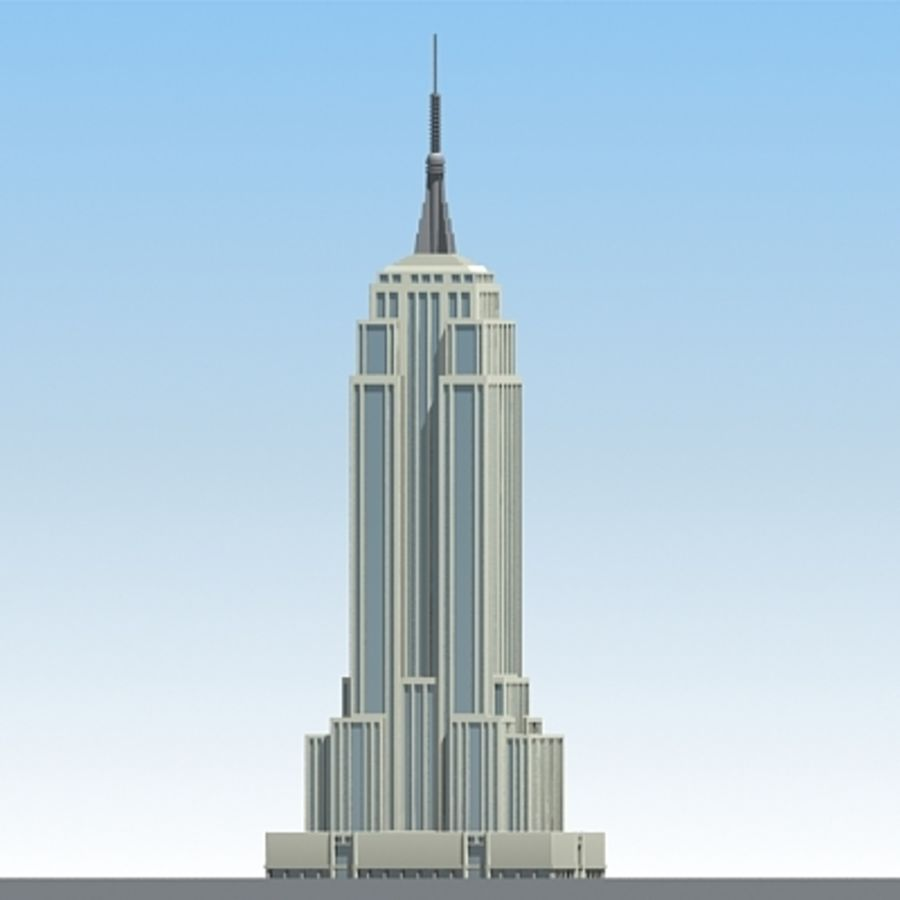 Empire state building.zip royalty-free 3d model - Preview no. 2
