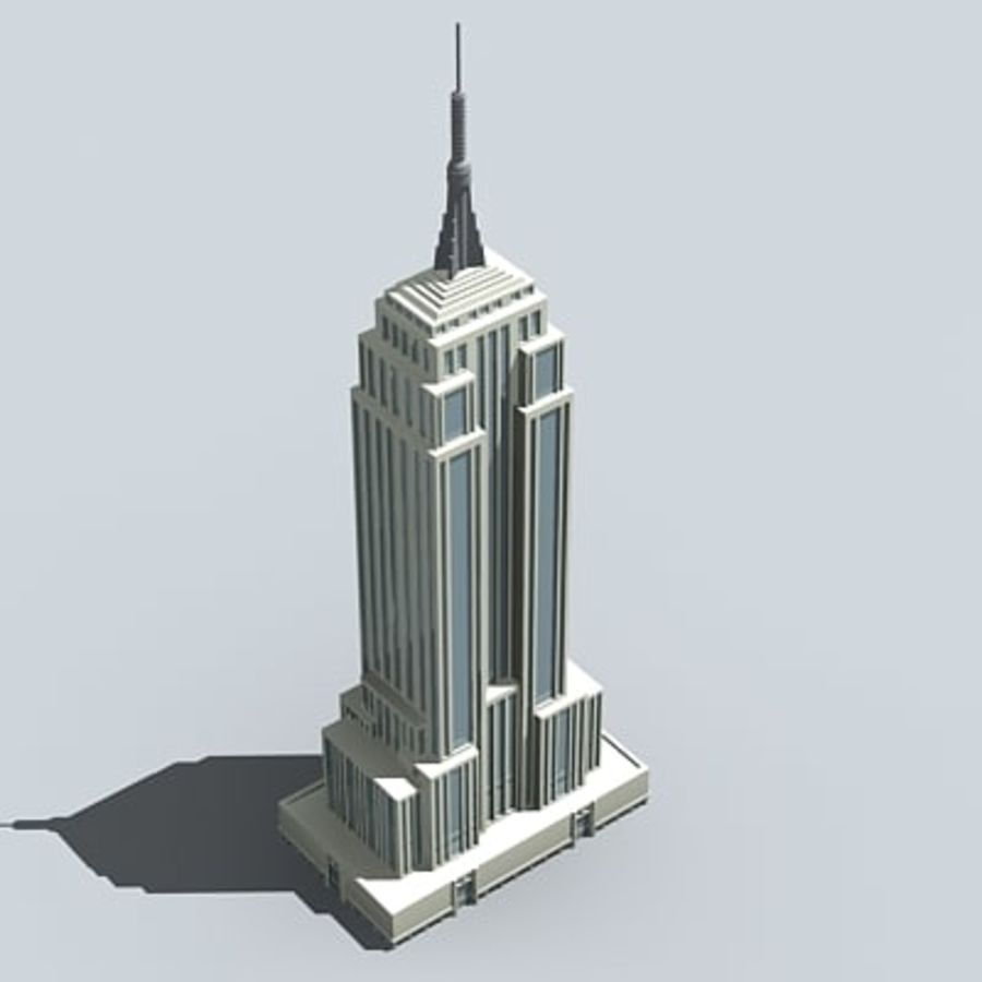 Empire state building.zip royalty-free 3d model - Preview no. 1