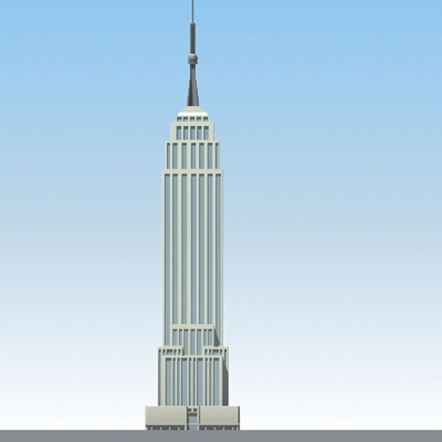 Empire state building.zip royalty-free 3d model - Preview no. 5