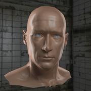 AAA_HeroHead_wNormalMap_OBJfiles.zip 3d model