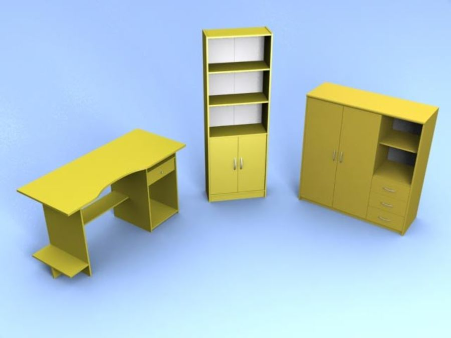 Möbel niedrig Poly royalty-free 3d model - Preview no. 6