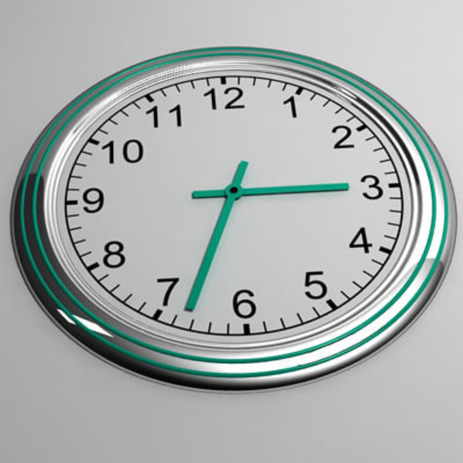 clock 07 royalty-free 3d model - Preview no. 3