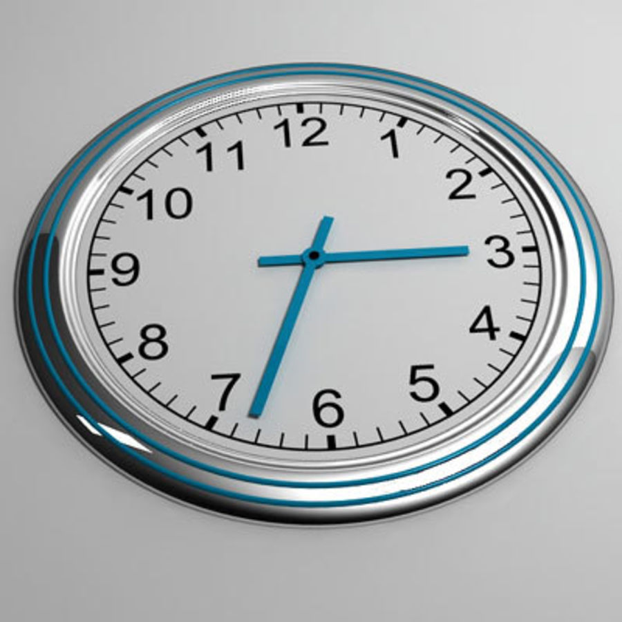clock 07 royalty-free 3d model - Preview no. 1