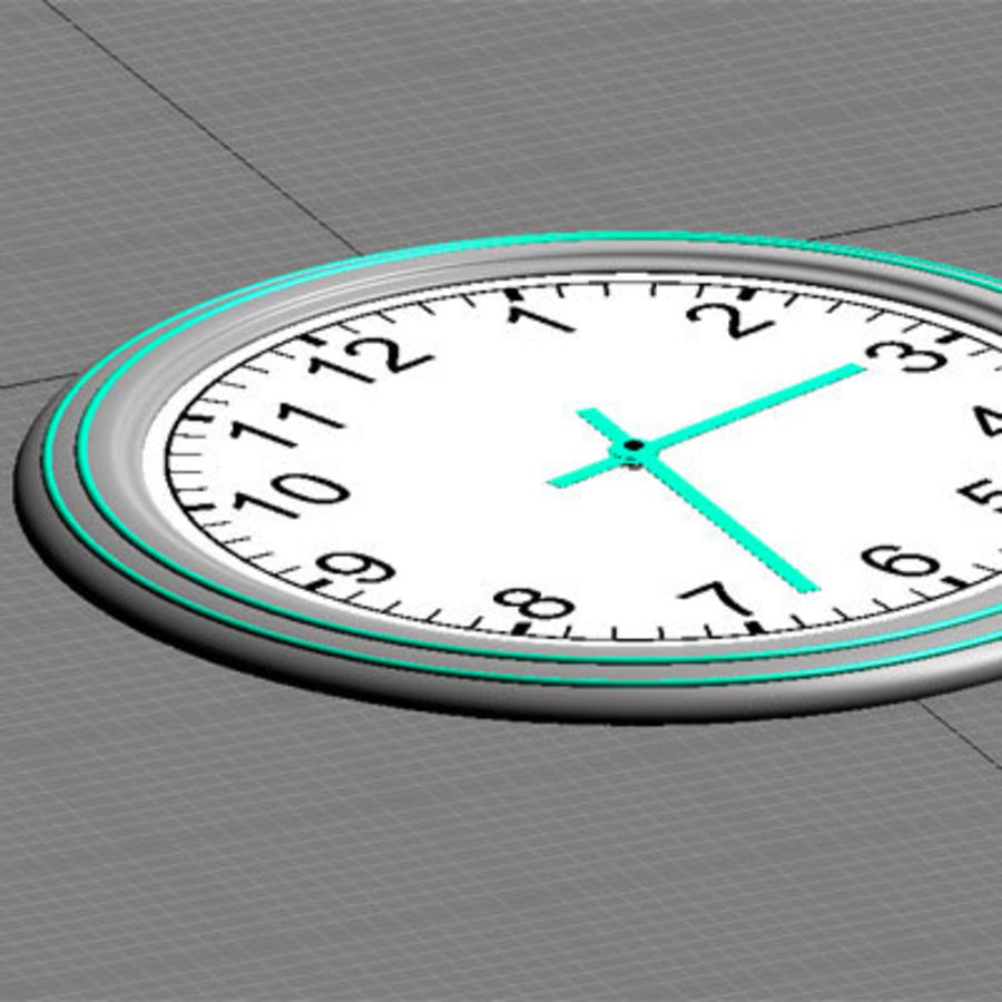 clock 07 royalty-free 3d model - Preview no. 5